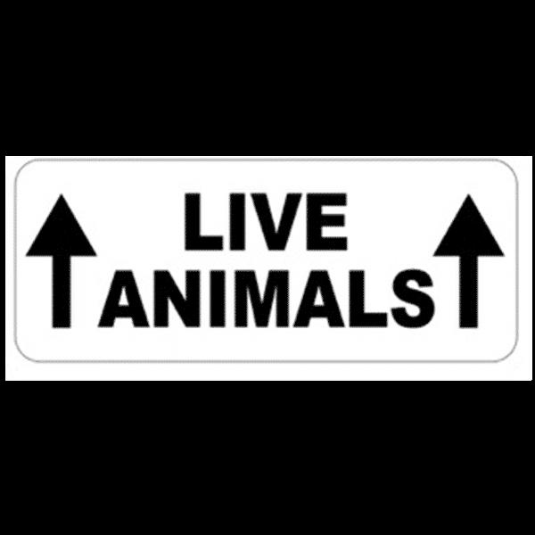 LIVE ANIMALS - sticker